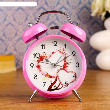 Будильник amore, d= 9.8 см, розовый