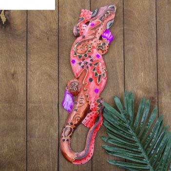 Панно настенное геккон закат 11х1,1х50 см