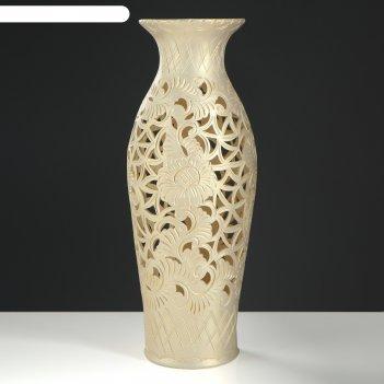 Ваза напольная форма эллада резка слоновая кость