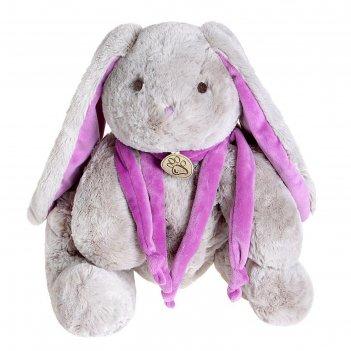 Мягкая игрушка кролик 45см, цвет  серый/фиолетовый at365052