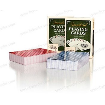 Колода карт для покера с пластиковой рубашкой pokerrange
