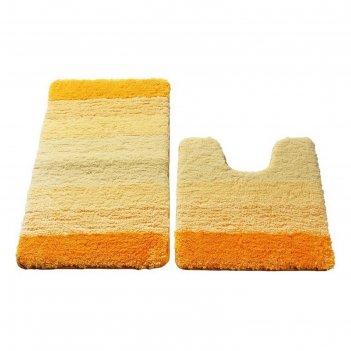 Набор ковриков для ванной комнаты 50х80, 50х50 см, yellow gradiente