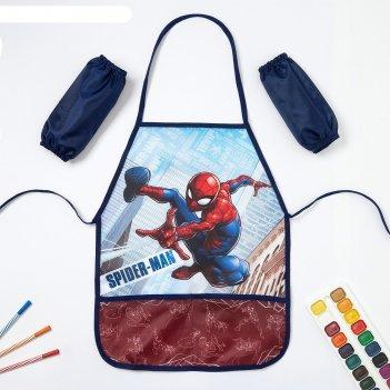 Набор детский для творчества человек-паук (фартук 49 х 39 см и нарукавники