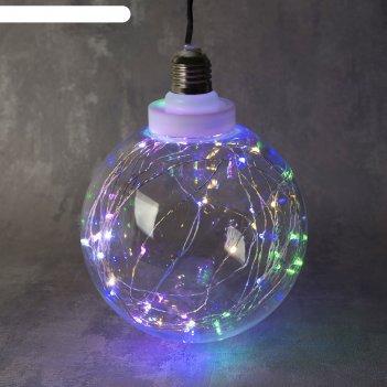 Фигура лампочка 15 см, 50 led-12v, адаптер в комплекте, мульти
