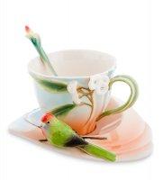 Fm-79/ 2 чайная пара попугай розелла (pavone)