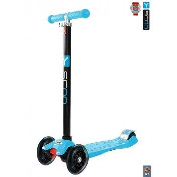 Y-scoo rt maxi shine a20 blue с 4-мя светящимися колесам