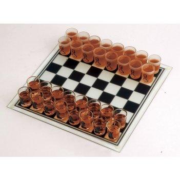01012 игровой набор пьяные шахматы со стопками, 35*35 см