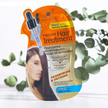 Программа интенсивного ухода за волосами увлажнение и питание (сыворотка+м