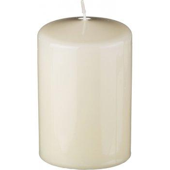 Свеча высота=10 см.диаметр=7 см.кремовая