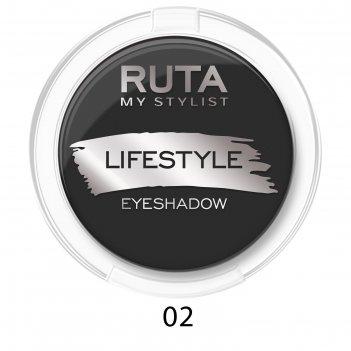 Тени для век ruta lifestyle, тон 02, чёрный бархат