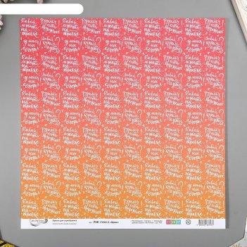 Бумага для скрапбукинга mr.painter фреш 5 30,5х30,5 см 190гр/м2