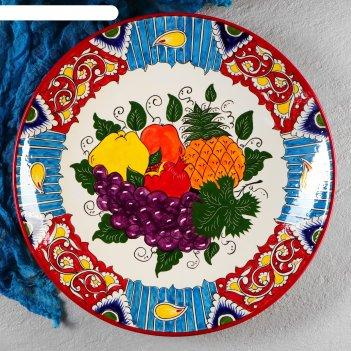 Ляган круглый «фрукты», 41 см