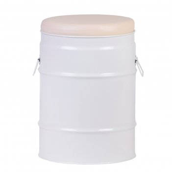 Табурет бочка белый/ молочный