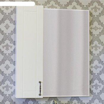 Шкаф-зеркало глория 65 белый глянец