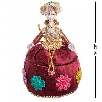 Rk-732/ 4 кукла-шкатулка дама в вечернем платье