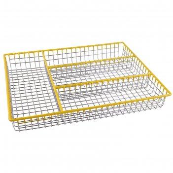 Подставка - лоток для столовых приборов 32х26х4 см linea trina