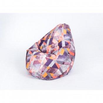 Кресло-мешок «груша» малое, диаметр 70 см, высота 90 см, принт сноу манго