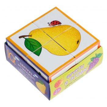 Умные кубики «фрукты и ягоды», 4 штуки, в поддончике
