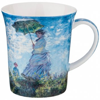 Кружка дама с зонтиком (к. моне) 420 мл (кор=36шт.)