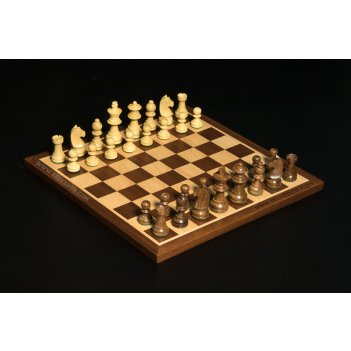 Шахматы для детей классические индия, самшит, палисандр, махагон 30х30