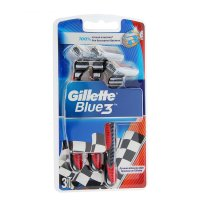 Станок для бритья gillette blue 3 red одноразовый,3 шт