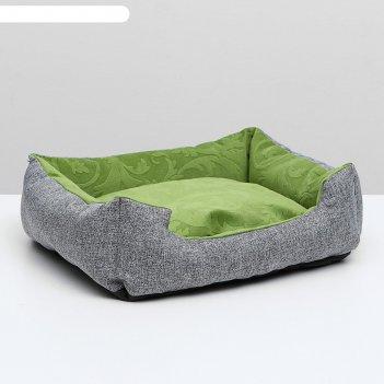 Лежанка-диван с двусторонней подушкой   45 х 35 х 11 см, микс цветов