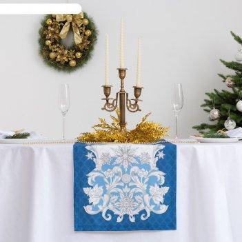 Дорожка на стол этель зимние узоры 40х147 см, 100% хл, саржа 190 гр/м2