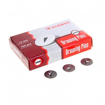 Кнопки канцелярские 12 мм, 100шт
