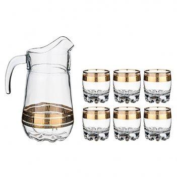 Набор для сока греция 7 пр: кувшин + 6 стаканов ...