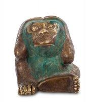 24-069 фигура обезьяна бронза (о.бали)