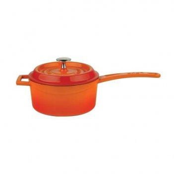 Ковш с металлической ручкой и крышкой lava orange 1,35 л, 16 см