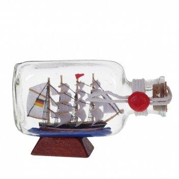 Изделие декоративное корабль в бутылке, l11 w3 h7 см