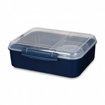 Ланч-бокс с баночкой для соуса, объем: 1,65 л, материал: пластик, серия re
