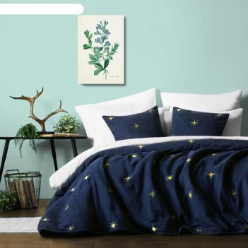 Покрывало с наволочками «бэлли», размер 230х250 см, цвет синий