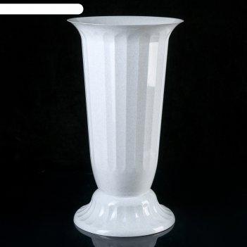 Вазон с подставкой 12 л флора, h=51 см, цвет белый