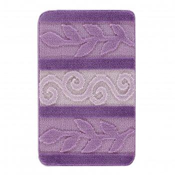Коврик для ванной, hurrem 60х100, цвет лиловый