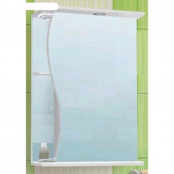 Зеркало-шкаф волна 600 белое, левое, без подсветки арт.10225