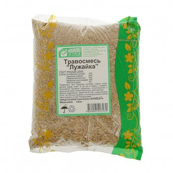 Газонная травосмесь  лужайка 0.8 кг (10шт/уп) зеленый уголок