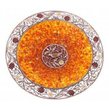 Блюдо малинка в белой ювелирной бронзе