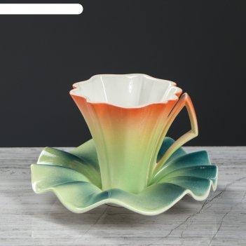 Чайный набор лотос чашка 0,2 л + блюдце