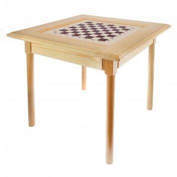 Шахматный стол (72х72х72 см, фигуры дерево, игровое поле 36х36 см, король
