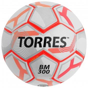 Мяч футбольный torres bm 300, размер 4, tpu, машинная сшивка, 28 панелей,