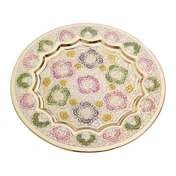 Тарелка декоративная диаметр=19 см. (мал-10/кор=14...