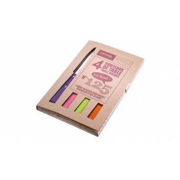 Набор столовых ножей opinel №125 vri pop spirit из 4-х штук