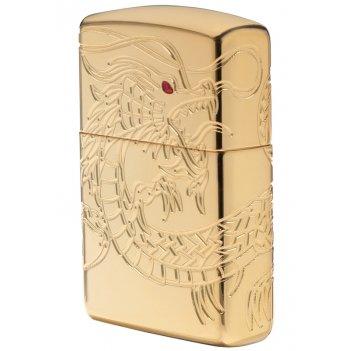 Зажигалка zippo armor™ high polish gold plate