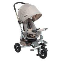 Велосипед трехколесный micio comfort, надувные колеса 10/8, цвет: бежевый