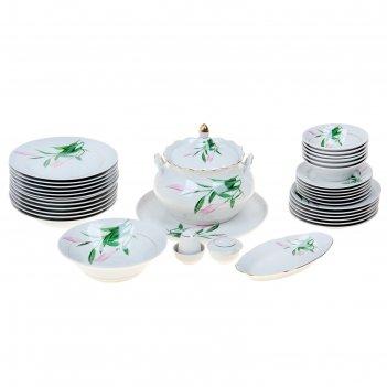 Сервиз столовый 37 предметов 4 вида тарелок бутон