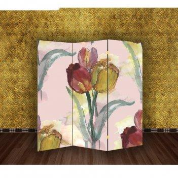 Ширма тюльпаны, 160 x 150 см