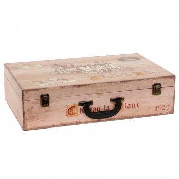 Шкатулка для бутылок чемодан, l51 w33 h13 см