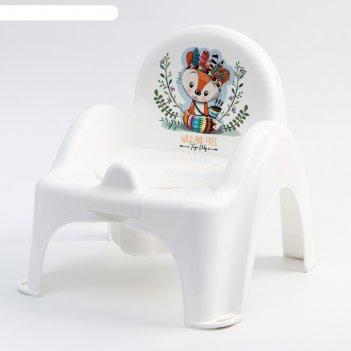 Горшок-стульчик  дикий запад - лисенок, цвет белый/зеленый